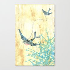 Birds of blue Canvas Print