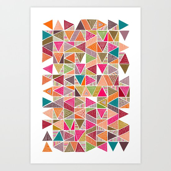 Roof Colorful Art Print