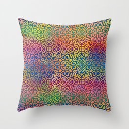 DP050-1 Colorful Moroccan pattern Throw Pillow