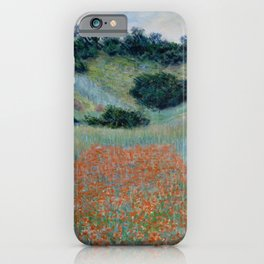 "Claude Monet ""Poppy Field in a Hollow near Giverny"" iPhone Case"
