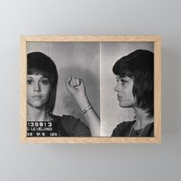 Jane Fonda Mugshot Framed Mini Art Print