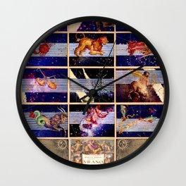 Zodiac Poster - Uranometria Wall Clock