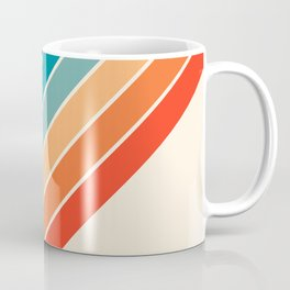Karanda - 70s Style Classic Retro Stripes Coffee Mug