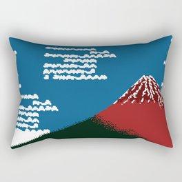RED FUJI Rectangular Pillow