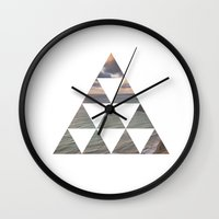 west coast Wall Clocks featuring West Coast by essyle