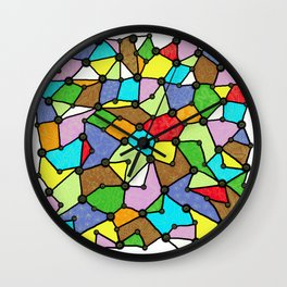 Yzor pattern 130001 Connexions  Wall Clock