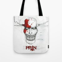 "pain Tote Bags featuring ""Pain"" by Pastuv"
