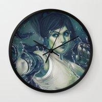 korra Wall Clocks featuring Korra by MATT DEMINO
