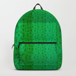 Greenish pattern of borders .. Backpack