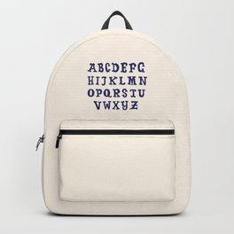 ABC Alphabet Table Backpack