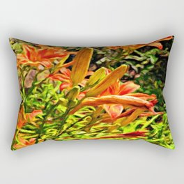 Orange Lilies of the Imagination Rectangular Pillow