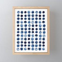 Blueberries | Watercolour Pattern Framed Mini Art Print