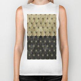 Gold Black Geo Glam #1 #shiny #geometric #decor #art #society6 Biker Tank