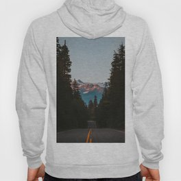 A Road Through The Mountain Pine Trees Photo Hoody