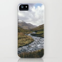 Gatesgarth Beck flowing through the Honister Pass. Cumbria, UK. iPhone Case