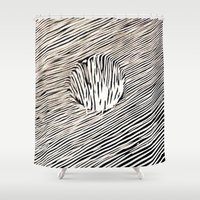 trip Shower Curtains featuring Trip by Diego L.D.