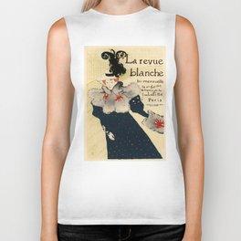 Belle Epoque vintage poster, La Revue Blanche Biker Tank