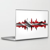 copenhagen Laptop & iPad Skins featuring Copenhagen city silhouette by South43