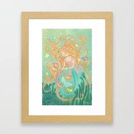 Mermaid Wishes & Seahorse Kisses Framed Art Print