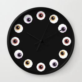 Pixel Eyeballs Wall Clock