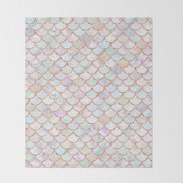 Pastel Memaid Scales Pattern Throw Blanket