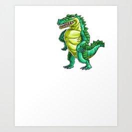 Love Crocodile Alligator Reptile Animal Art Print