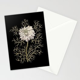 Mysterious Medieval Flower Stationery Cards