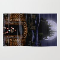 castlevania Area & Throw Rugs featuring Trick or Treat by VGPrints