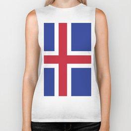 Iceland flag emblem Biker Tank