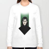 snape Long Sleeve T-shirts featuring Severus Snape  by Fatma Sahem