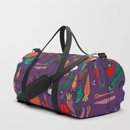 fall veggies purple Duffle Bag