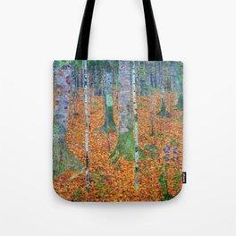 Gustav Klimt Birch Forest Tote Bag
