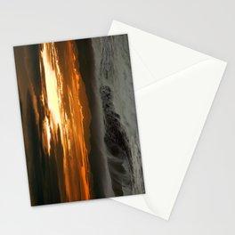 Winter Shorebreak at Sunset Stationery Cards