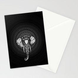 Aztec Circle Elephant Stationery Cards