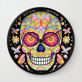 Sugar Skull Art (Mariposa) Wall Clock