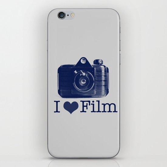 I ♥ Film (Grey/Navy) iPhone & iPod Skin