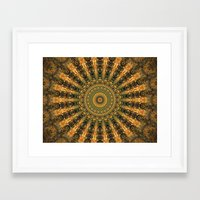 indie Framed Art Prints featuring Indie Sun by Jane Lacey Smith