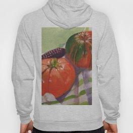 Pumpkin, Tomato and Corn Still Life Hoody