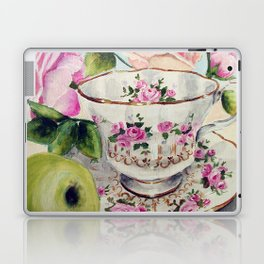 Teacup, Green Apple, and Roses Laptop & iPad Skin