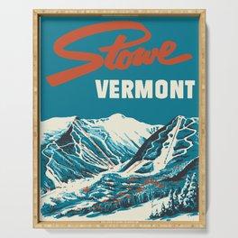 Stowe, Vermont Vintage Ski Poster Serving Tray
