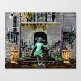 Ghost in a Madeira Mansion. Canvas Print
