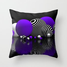 pebble bed -violet- Throw Pillow