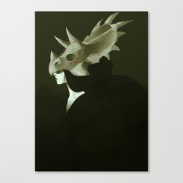 Dinosaur Helmet Canvas Print