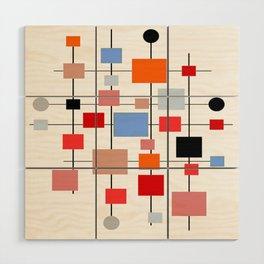 Mid-Century Modern Art 1.3.3 Wood Wall Art