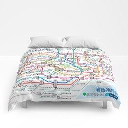 Tokyo Subway Map Comforters