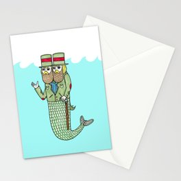 Portrait of a two headed merman Stationery Cards