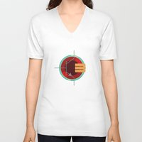 transistor V-neck T-shirts featuring A Transistor by PAUSE