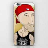 fitness iPhone & iPod Skins featuring Campbell Fitness Intro by Juan Perednik
