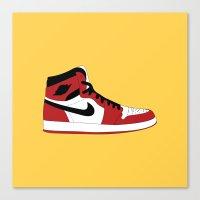 air jordan Canvas Prints featuring Air Jordan 1 by Dennis Cortes