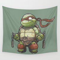 tmnt Wall Tapestries featuring TMNT by jeremiah cortez